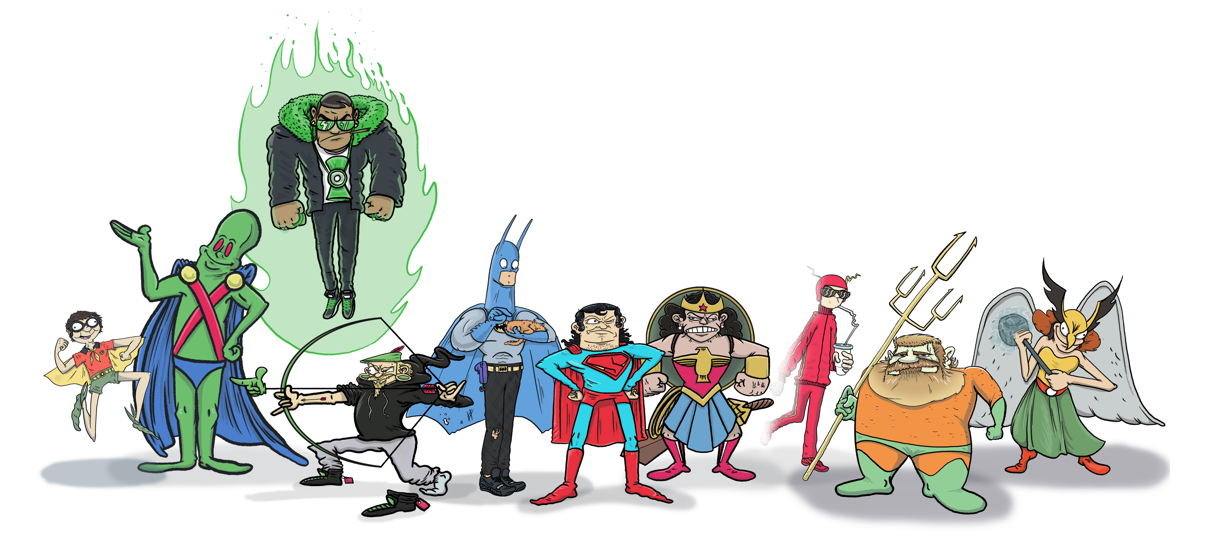 Character Design Justice League