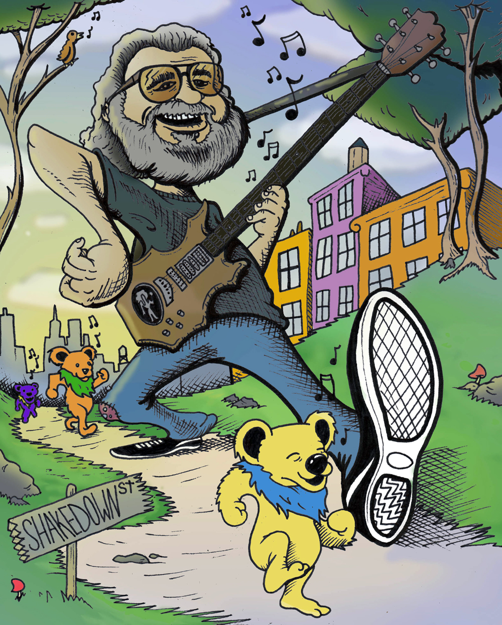 Illustration Jerry Garcia